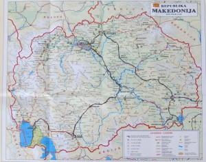 Mazedonienkarte
