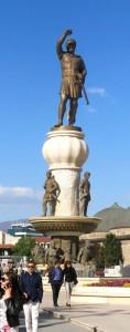 Skopje Brunnen Kaempfer