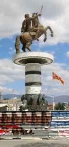 Skopje Statue Alex der Große