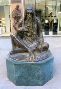 Skopje Statue Bettler