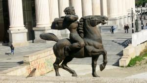 Skopje Statue Reitender Held