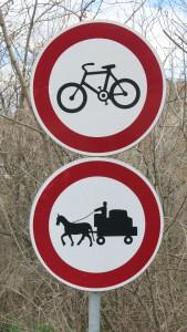 Straßenschild Kutsche