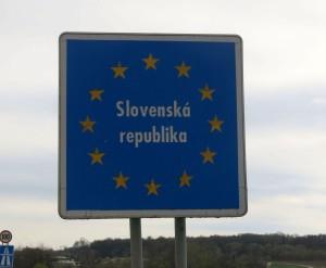 Grenzschild Slovenien