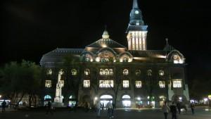 Jugendstil Serbien Rathaus Nacht