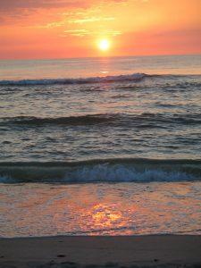 Nehrung Le Sonnenuntergang